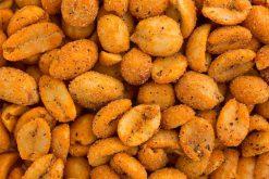 Topkwaliteit Cajun pinda's of een van onze andere pinda-producten met of zonder vlies altijd lekker.